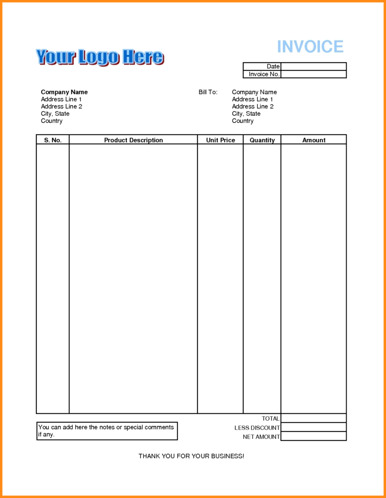 Hotel Bill Template and 8 Excel Bill format Musicre Sumed