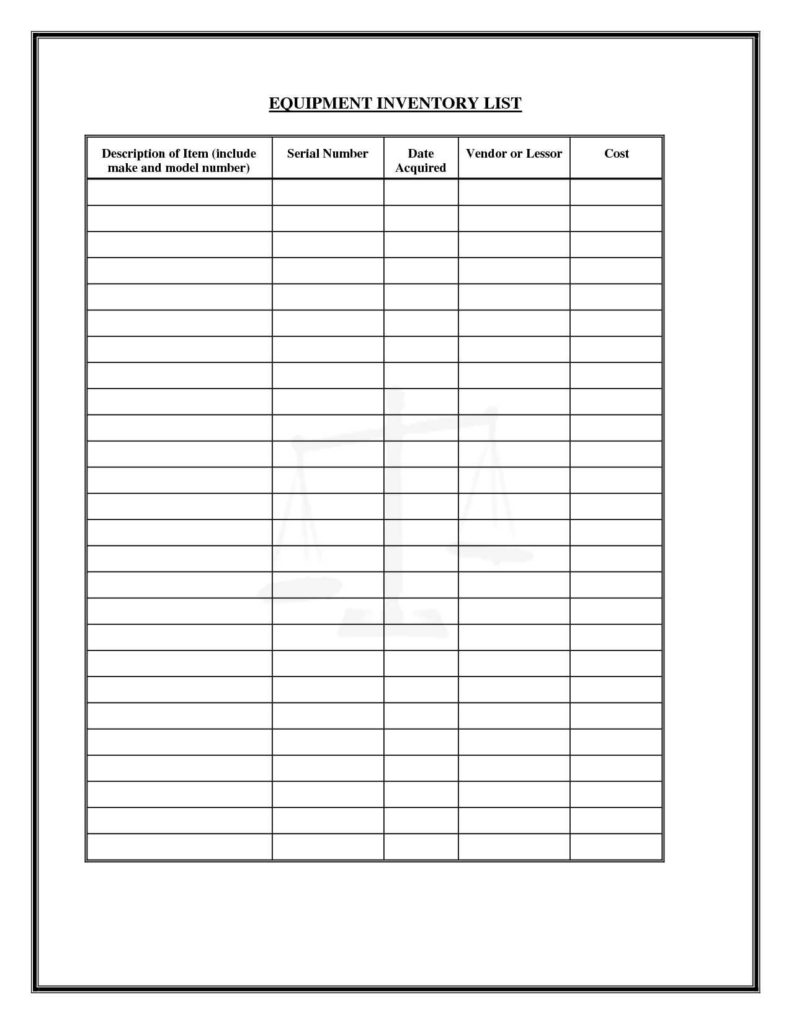 Hotel Inventory Spreadsheet and Office Furniture Inventory Template Virtren