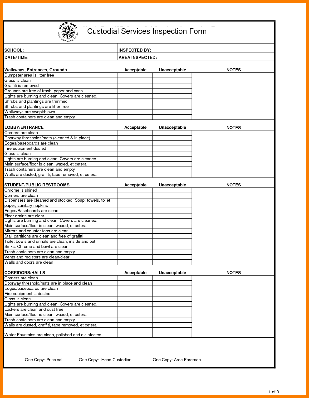 House Inspection Report Template and 11 Inspection Reports Template Park attendant