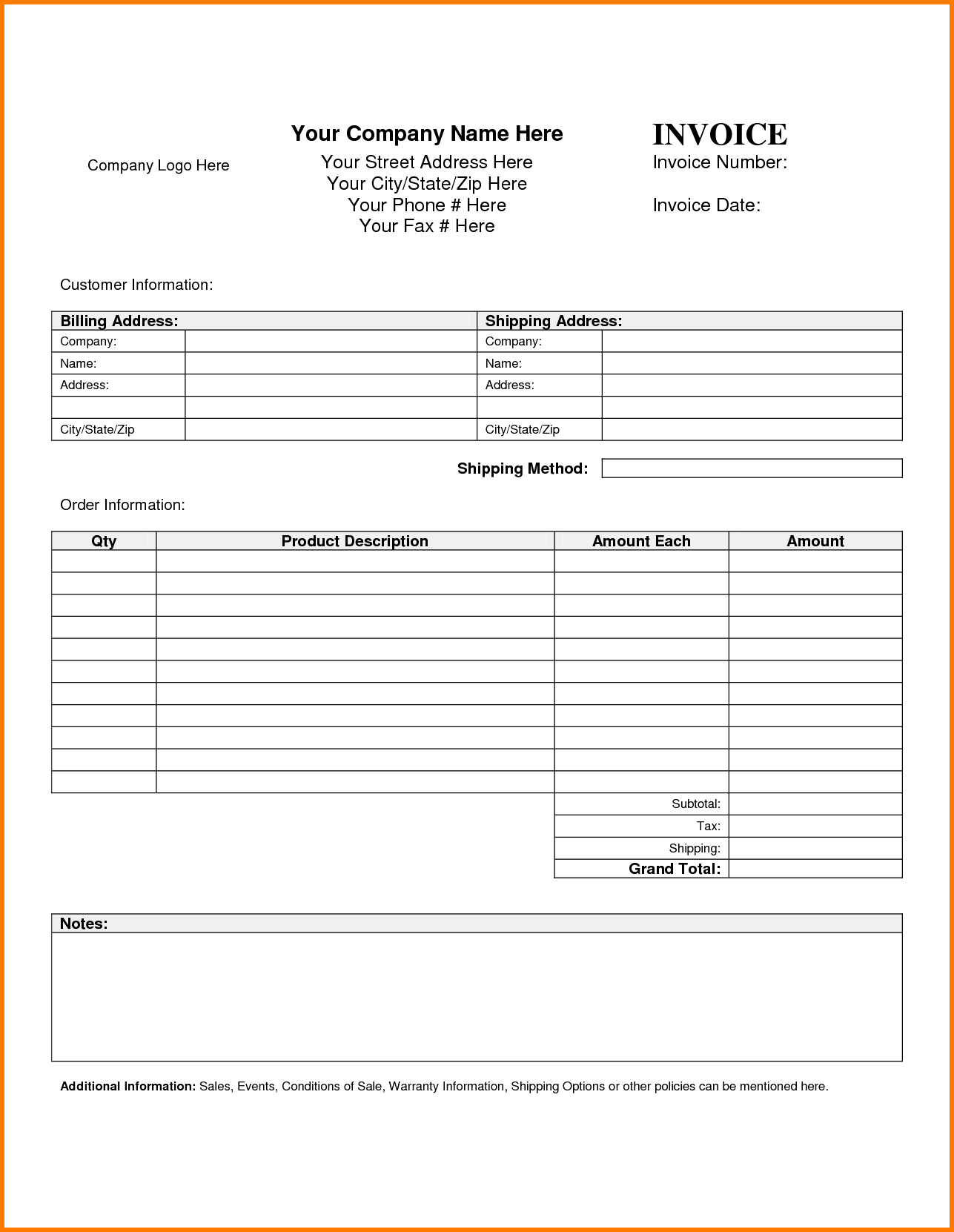 Invoice and Receipt Template and 7 Blank Invoice Templates Receipt Template Invoice Masir