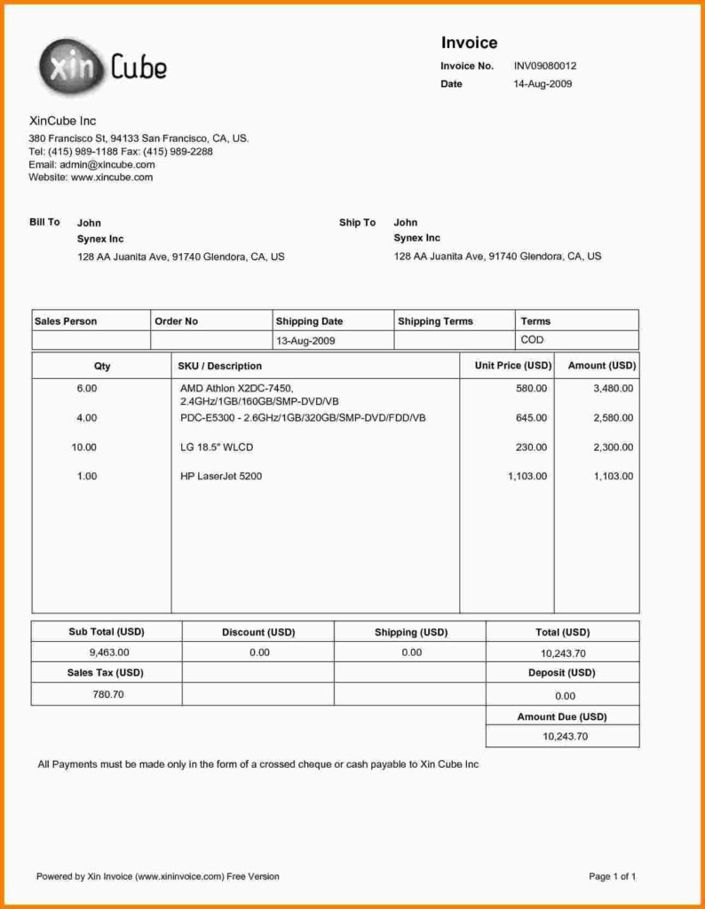 Invoice Statement Template Free and 7 Sample Invoice Pdf Statement Information