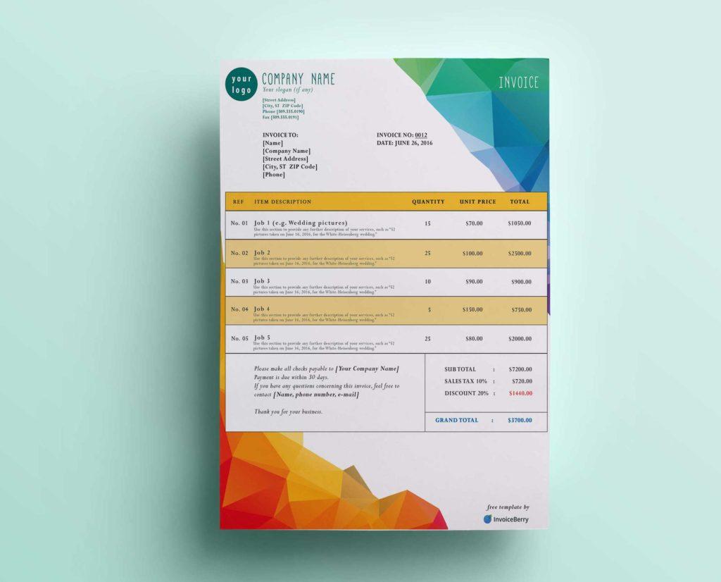 Invoice Template for Designers and Free New Gimp Invoice Templates Invoiceberry Blog