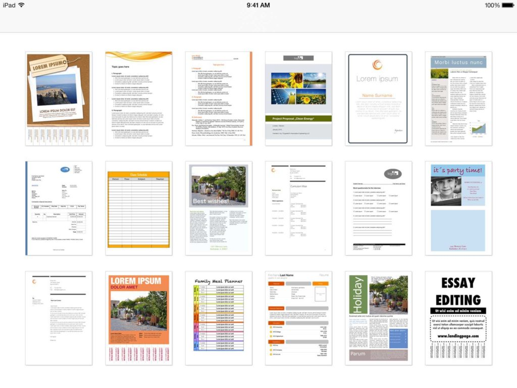 Invoice Template for Ipad and Templates for Word for Ipad iPhone and iPod touch Made for Use