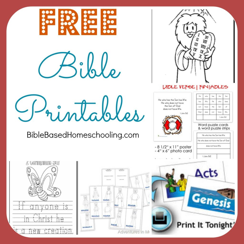 Kids Bible Study Worksheets and Free Cheap Bible Resources for Homeschool Free Homeschool Deals Â