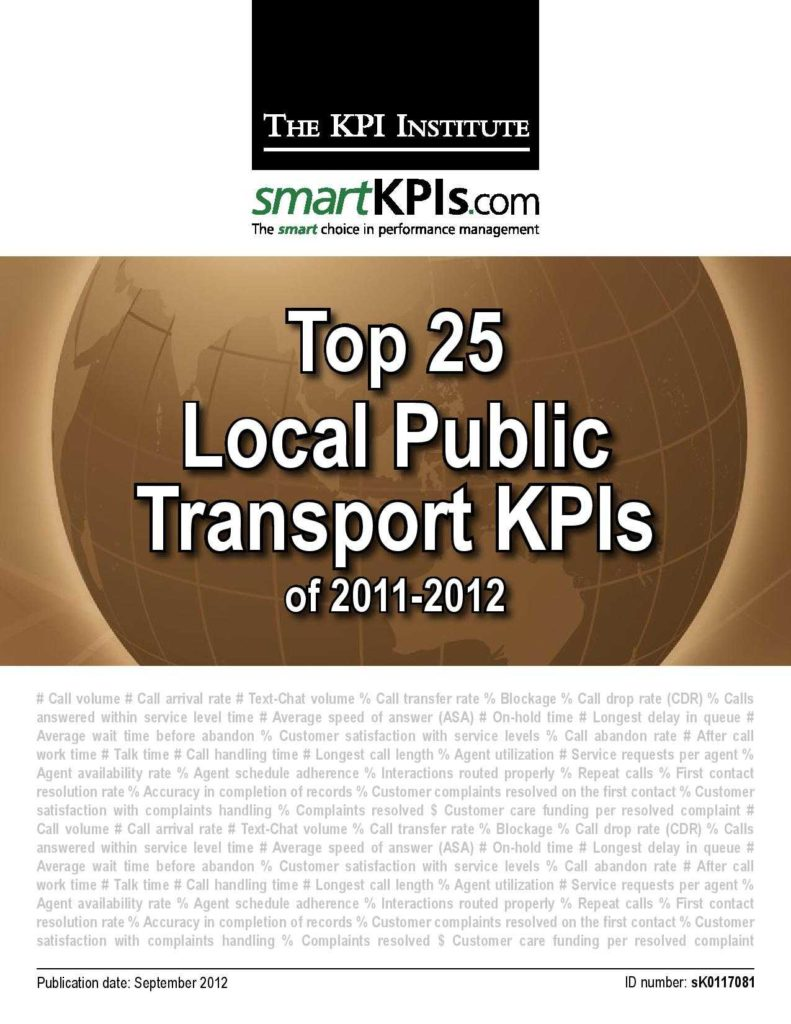 Kpi Reports Sample and Transportation Kpis Archives Kpiinstitute