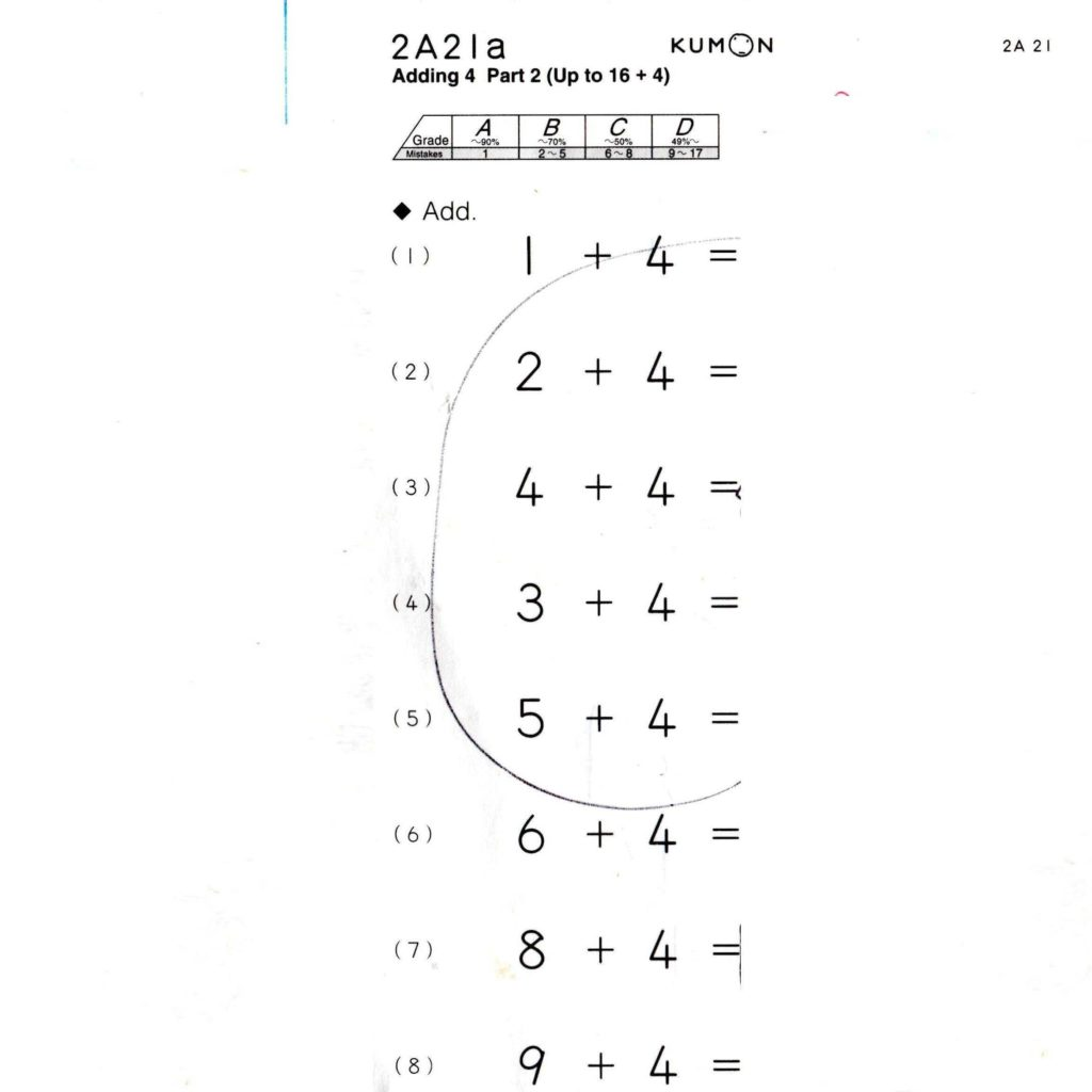 Kumon Sample Worksheets and Freekumon Worksheets Freekumonsheets