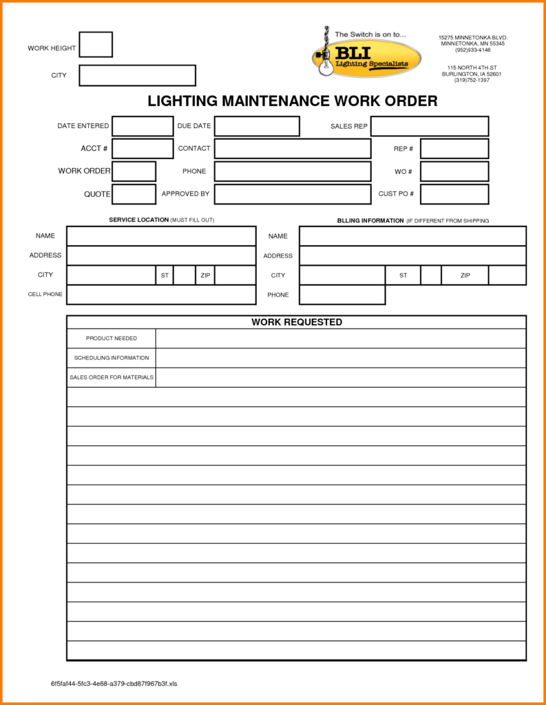 Lease Invoice Template and 2 Maintenance Work order Template Receipt Templates
