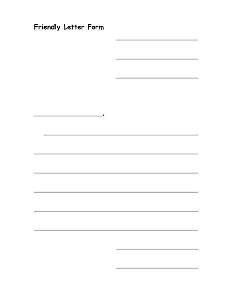 hight resolution of Letter Format Friendly - Letter