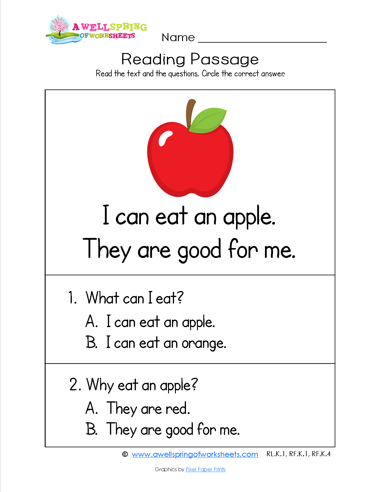 Level 4 Reading Comprehension Worksheets