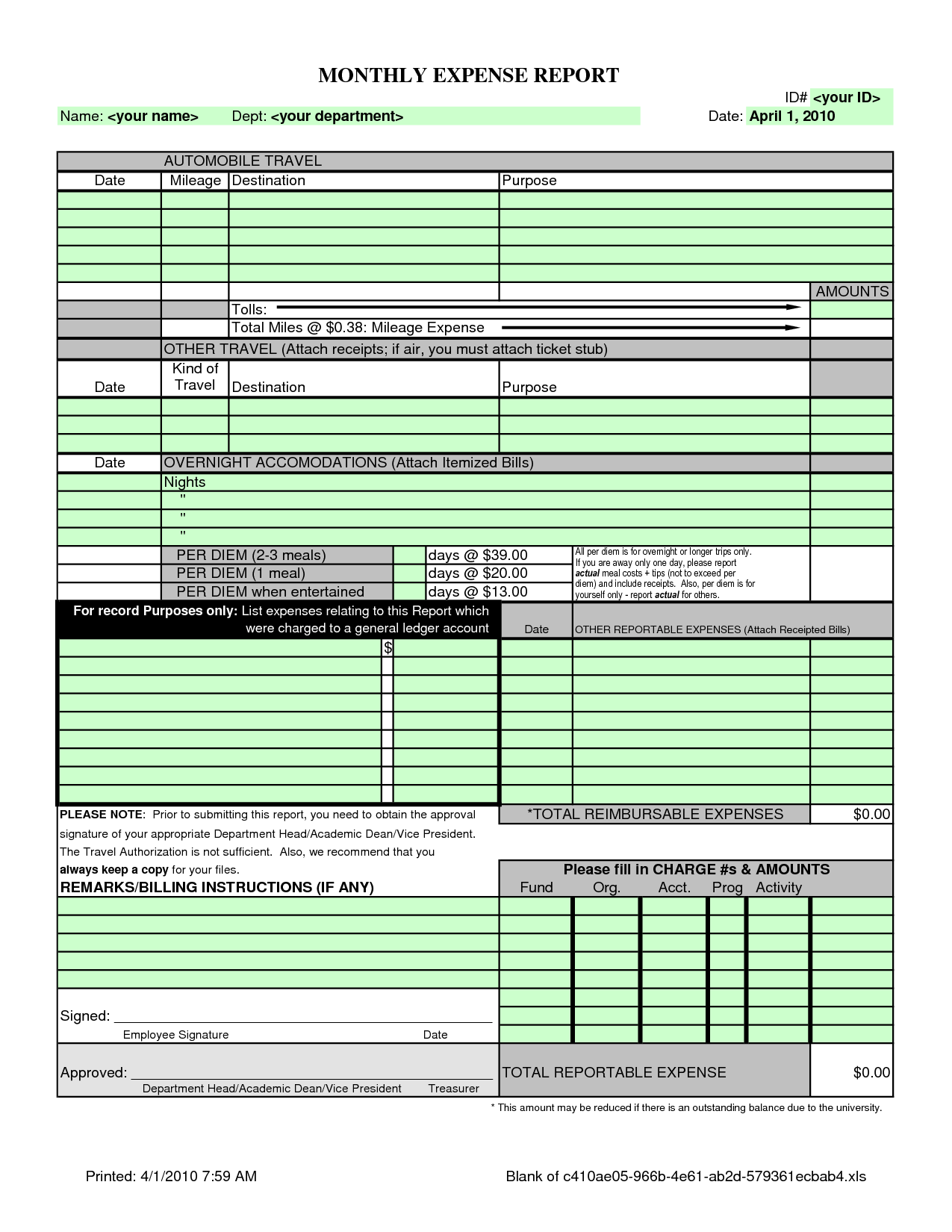 List Of Monthly Expenses Template and Spreadsheet for Monthly Expenses Laobingkaisuo