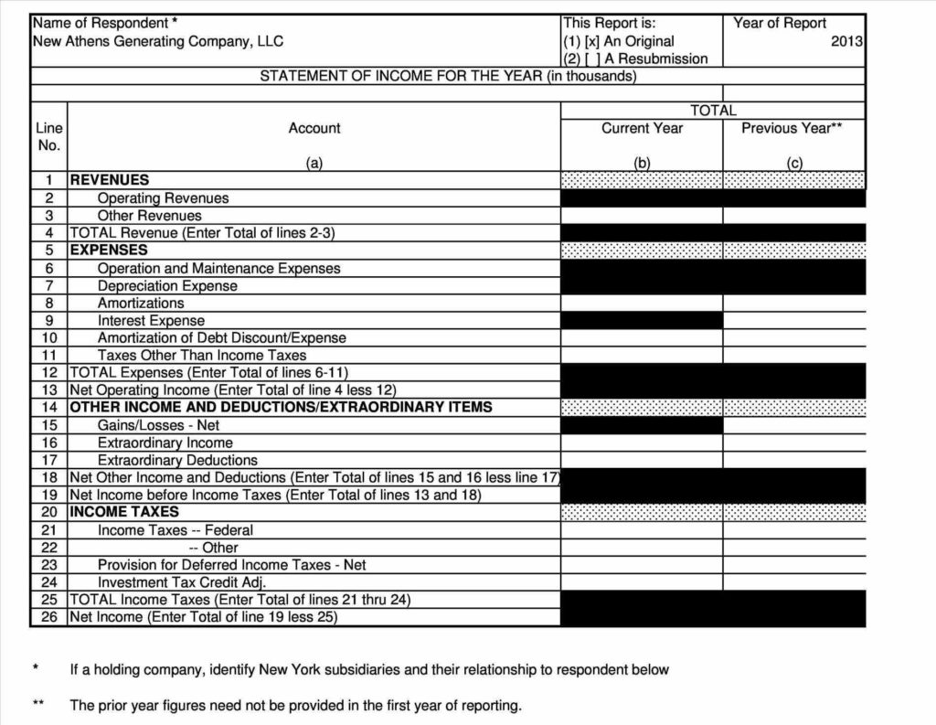 Llc Financial Statement Template and In E Statement and Balance Sheet Template forma Financial