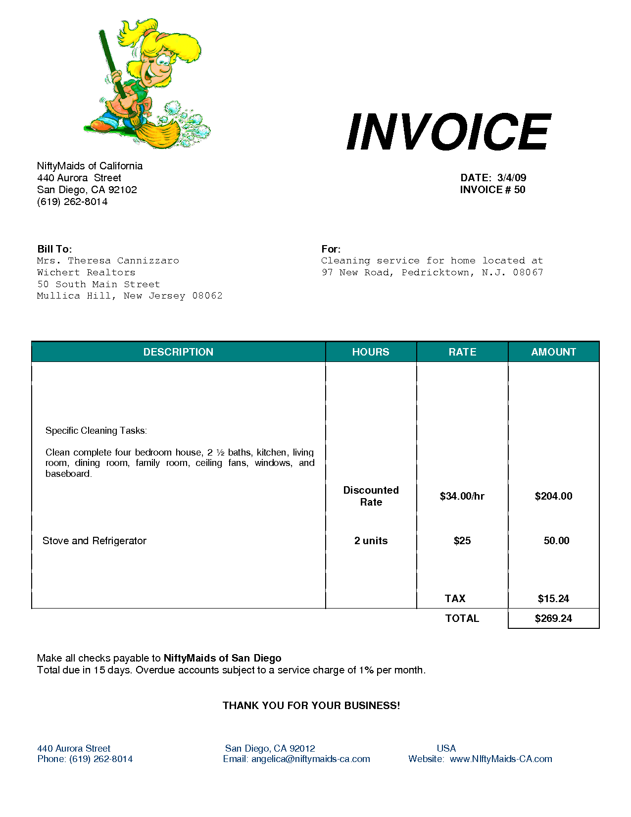 Maintenance Invoice Template and Cleaning Invoice Template Uk Invoice Example