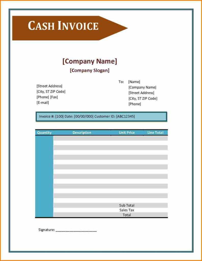 Medical Bill Template and 5 format Cash Bill format In Excel Simple Bill