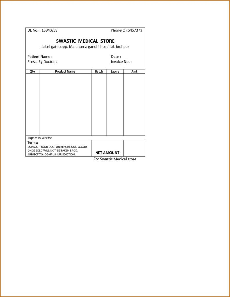Medical Bill Template Pdf and Service Invoice Template Medical Bill Pdf Printshopinvoicetemplate