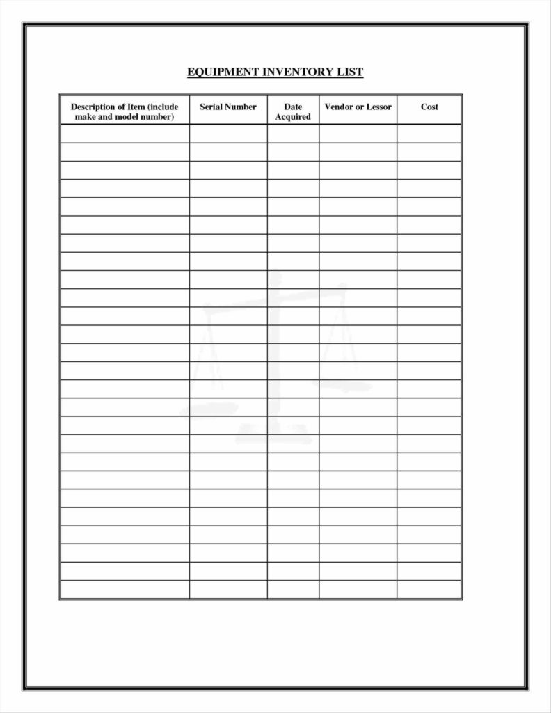 kitchen equipment list high gloss acrylic cabinets medical supply inventory spreadsheet and home pictures