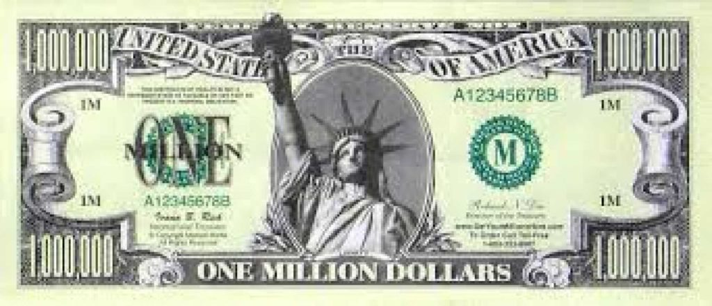 Million Dollar Bill Template and Million Dollar Bill Clipart Clipart Collection Clip Art Dollar