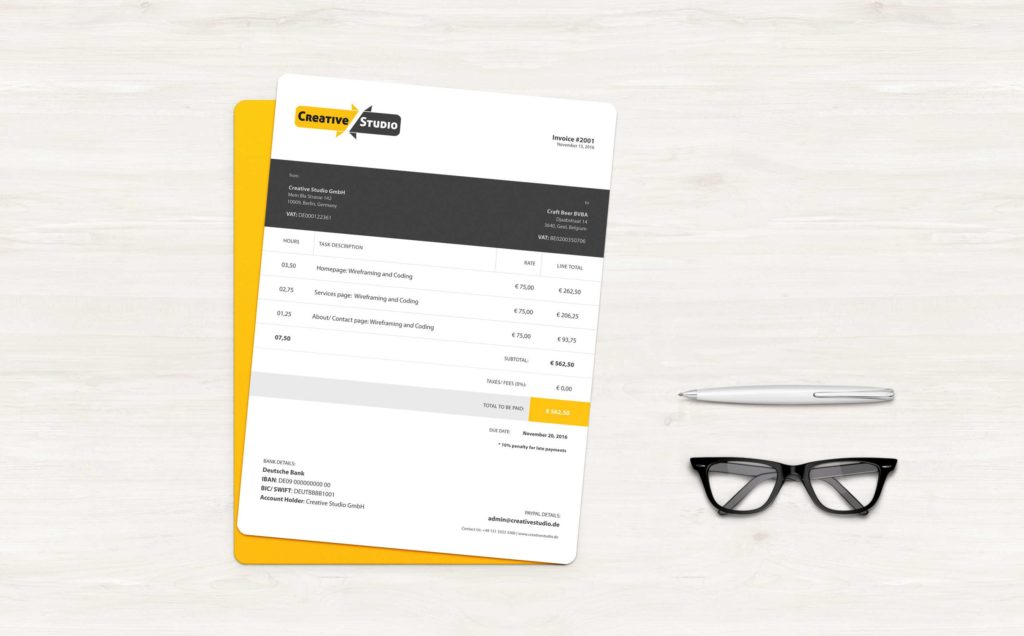 Mock Invoice Template and Exclusive Freebie Design Service Invoice Template Elumina