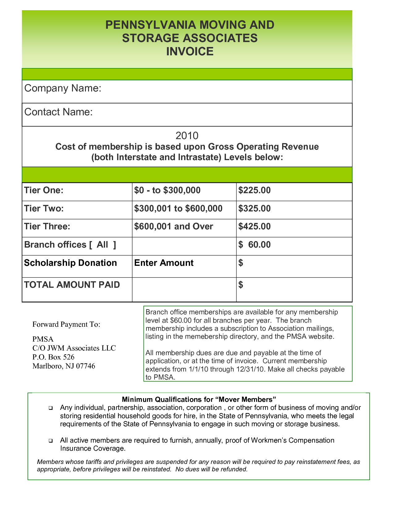 Moving Company Invoice Template Free and Invoice Template Media Templates Part 3