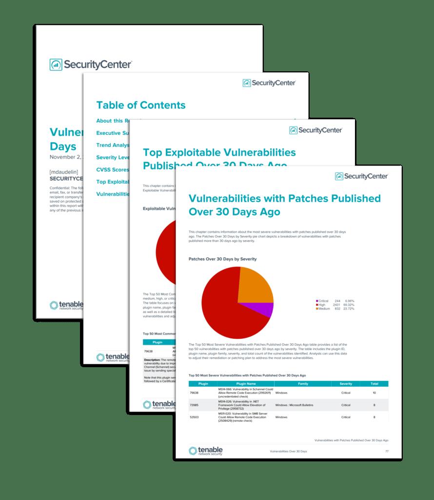 Network Vulnerability assessment Report Sample and Vulnerabilities Over 30 Days Report Sc Report Template Tenableâ