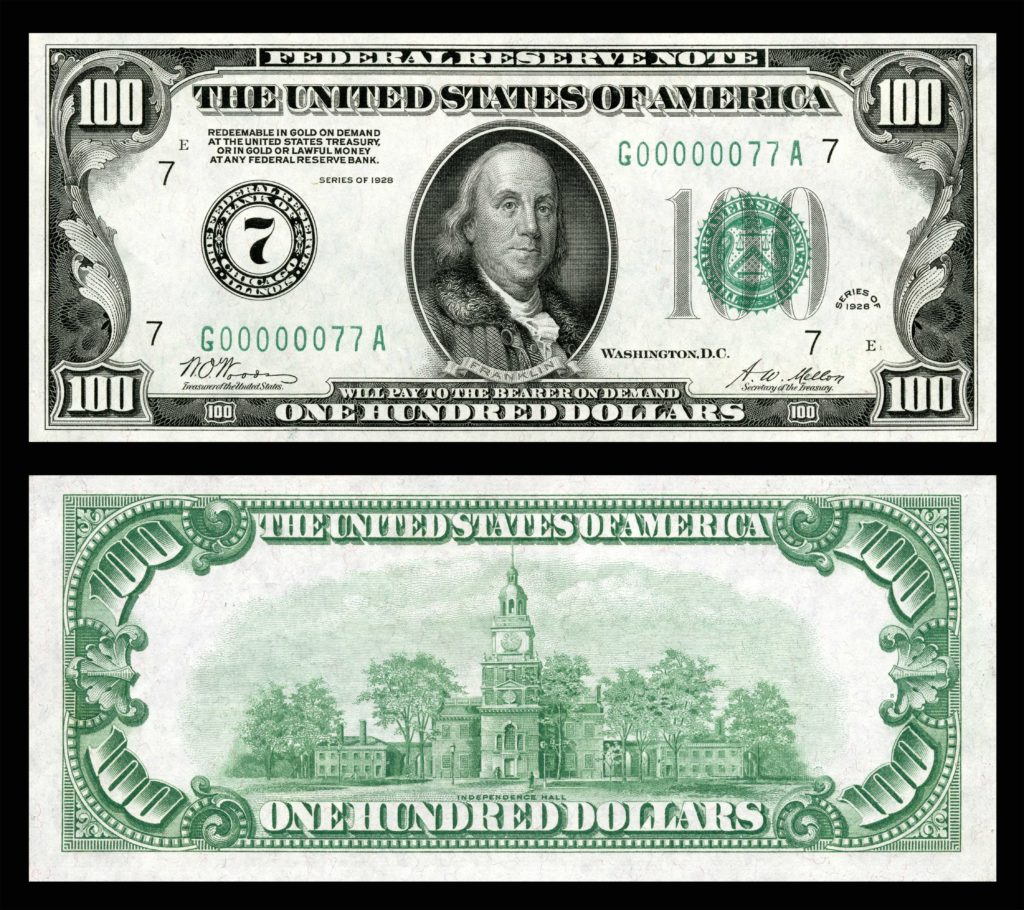 One Hundred Dollar Bill Template and File Us 100 Frn 1928 Fr 2150 G Wikimedia Mons