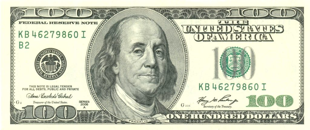 One Hundred Dollar Bill Template and File Usdollar100front Wikimedia Mons