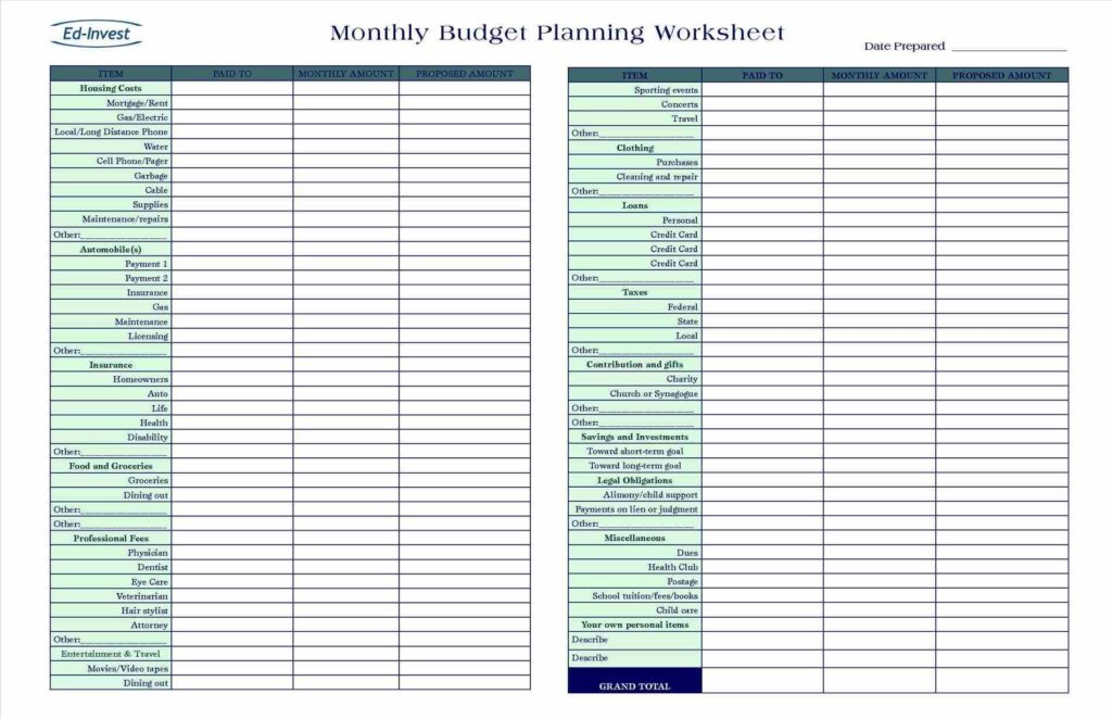 Personal Bills Spreadsheet Template and Personal Monthly Bud Template Excel Spreadsheet Walltemplates123