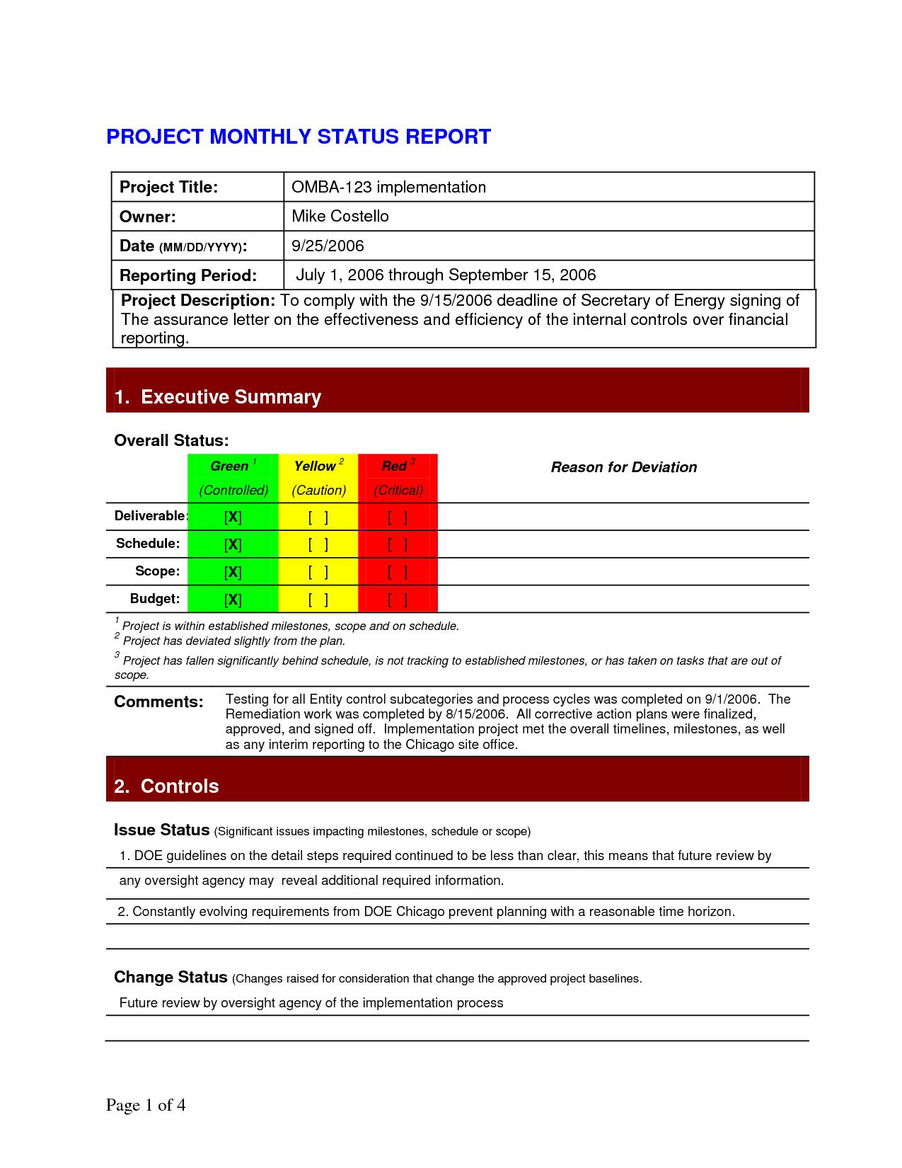Portfolio Management Reporting Templates and Project Status Report Template 2dfahbab 1275Ã 1650