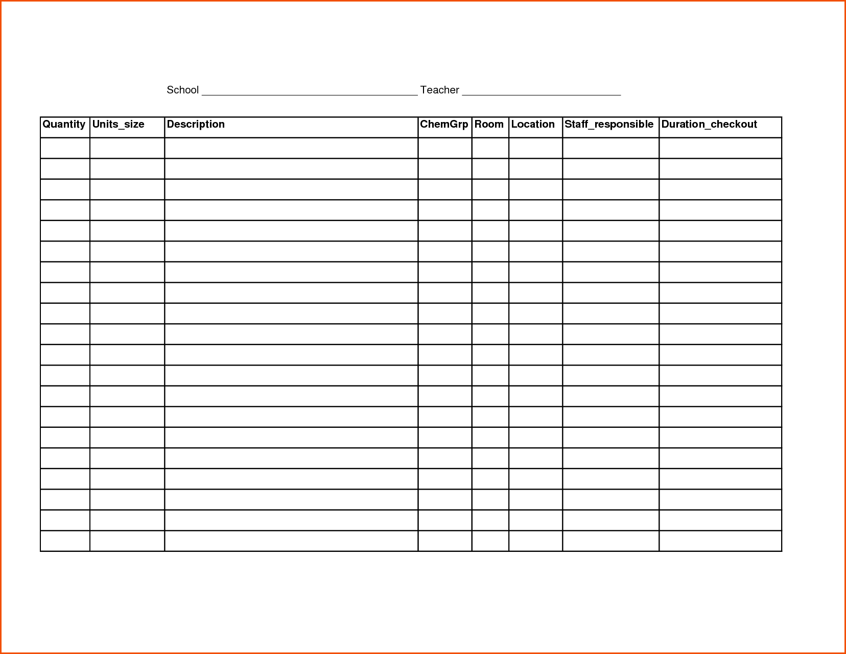 Printable Inventory Spreadsheet and Printable Spreadsheetmemo Templates Word Memo Templates Word