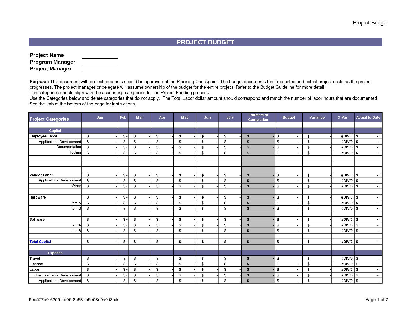 Project Management Spreadsheet Template Free and Project Bud Template Cyberuse
