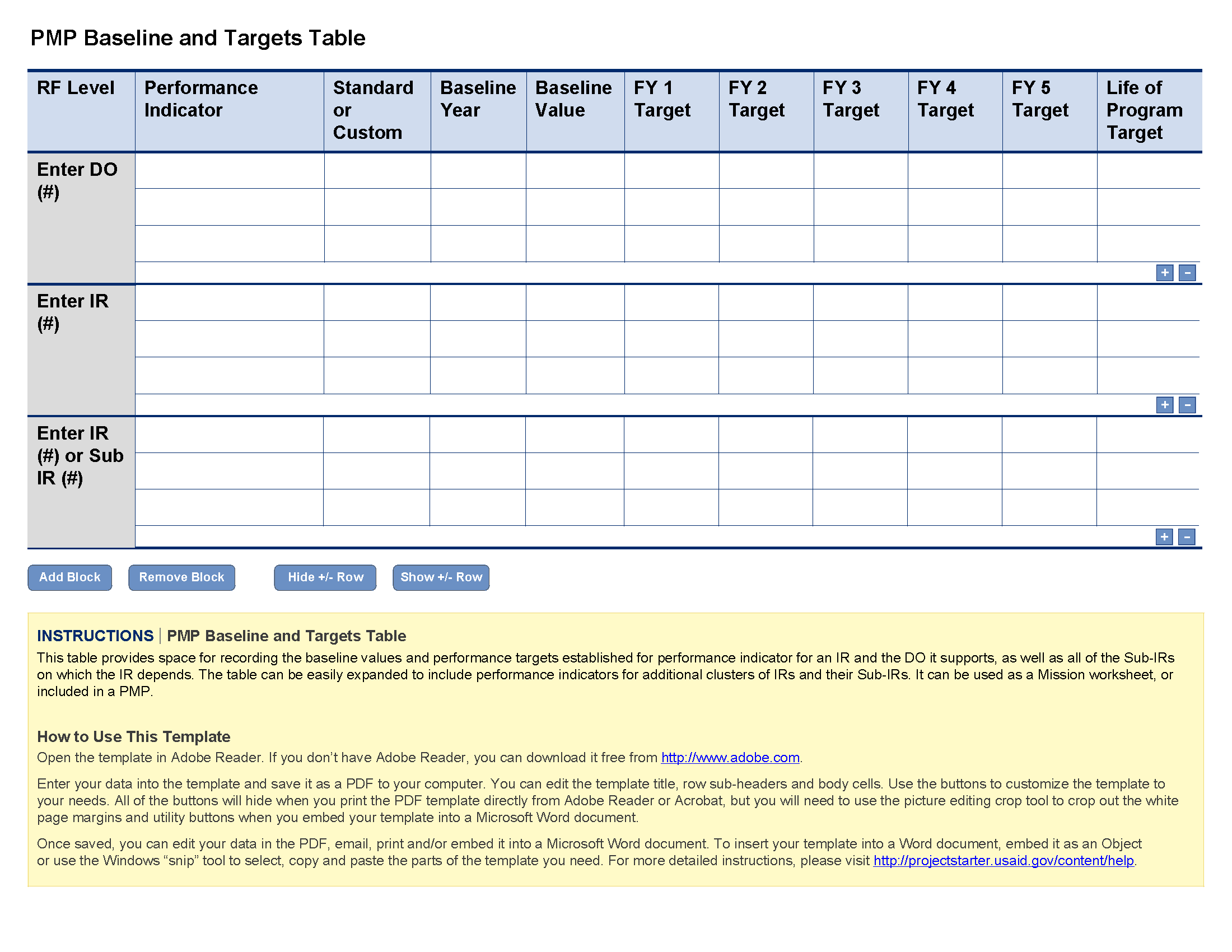 Project Planning Worksheet Template and Pmp Baseline and Tar S Template Project Starter Usaid