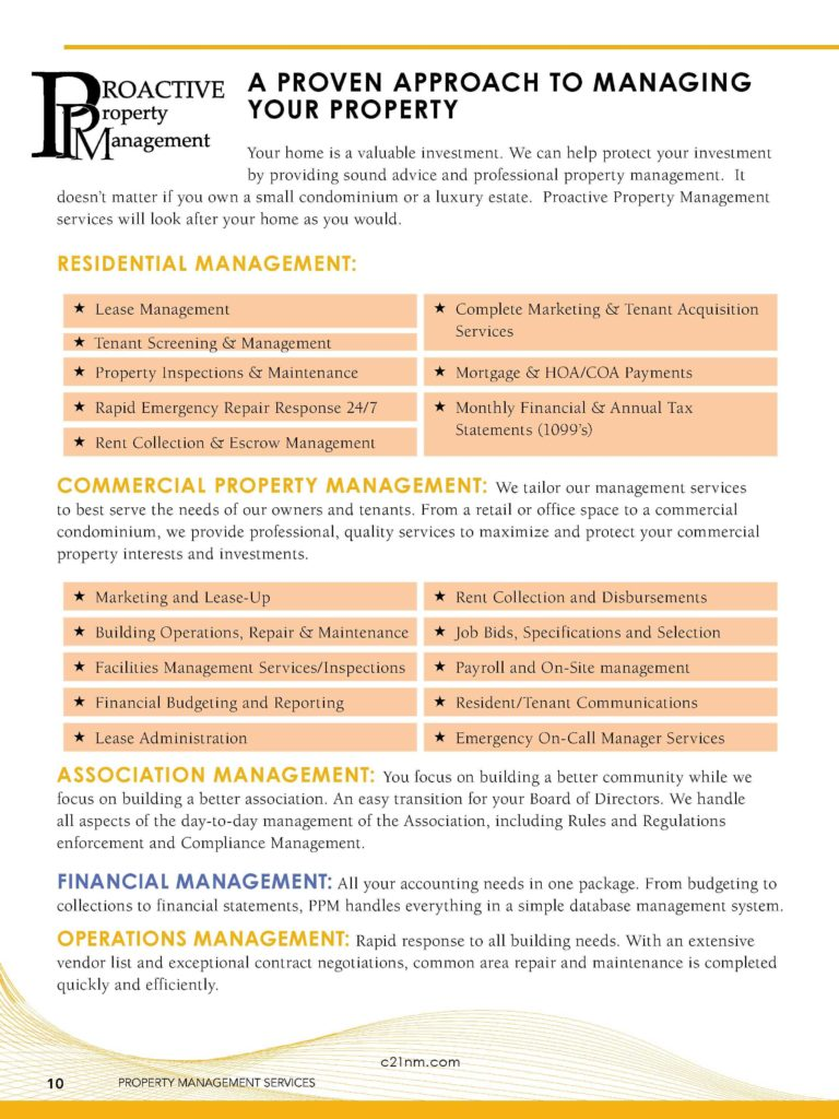 Property Management Mission Statement Examples and Listing Presentation Proactive Property Management Page 10