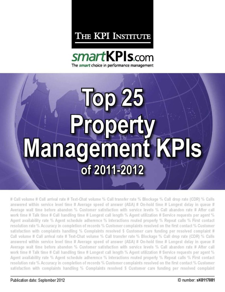 Property Management Mission Statement Examples and New Smartkpis Report Ranks the top Property Management Kpis Of