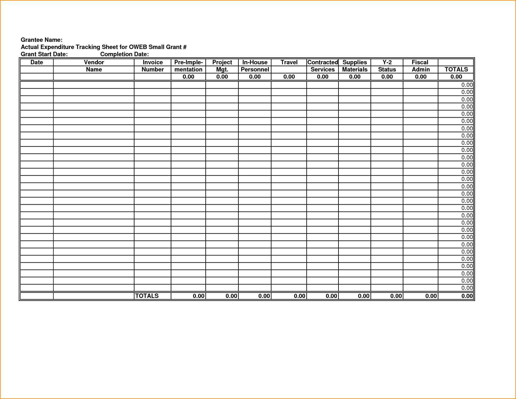 Proposal Tracking Spreadsheet and Tracking Spending Spreadsheet Nbd