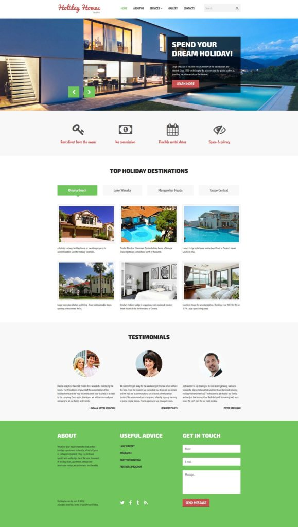 Real Estate Market Report Template and Home Rent Website Template