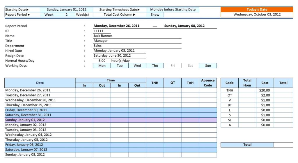 Rent Collection Spreadsheet and attendance Sheet for Employees Free Rent Agreement Template 12