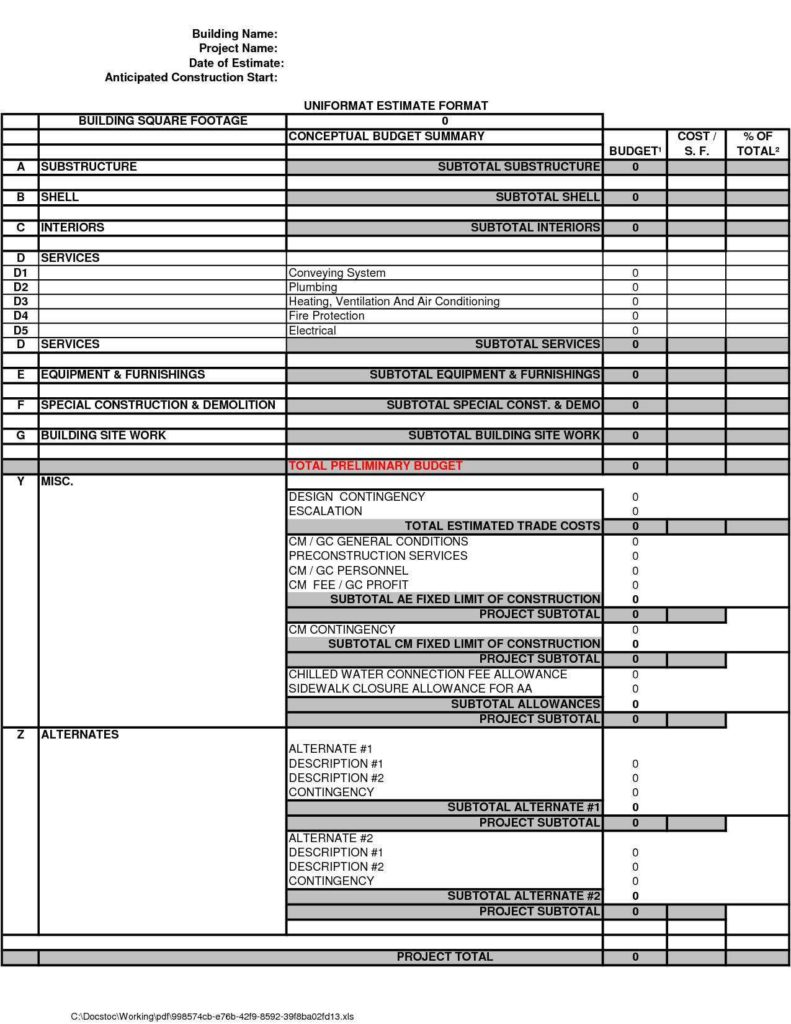 Residential Construction Estimating Spreadsheets and Inventory Spreadsheet Excel Free Inventory Spreadsheet Excel Free