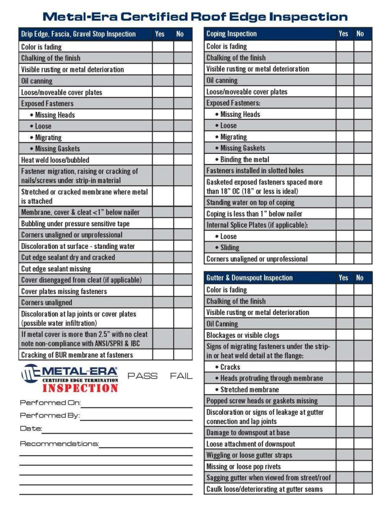 Roof Inspection Report Sample and Roofing Checklist A S Le Roofing Quality Plan Including