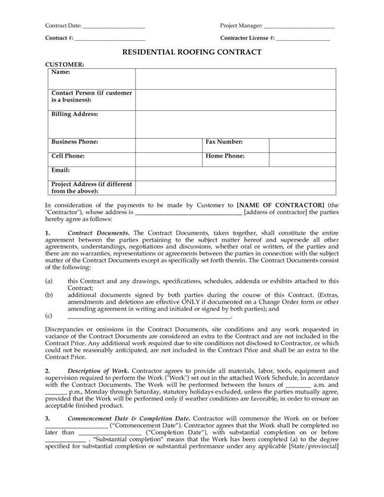 Roofing Invoice Sample and Roofing Estimate Template form and Roofing Quote Sheet Template