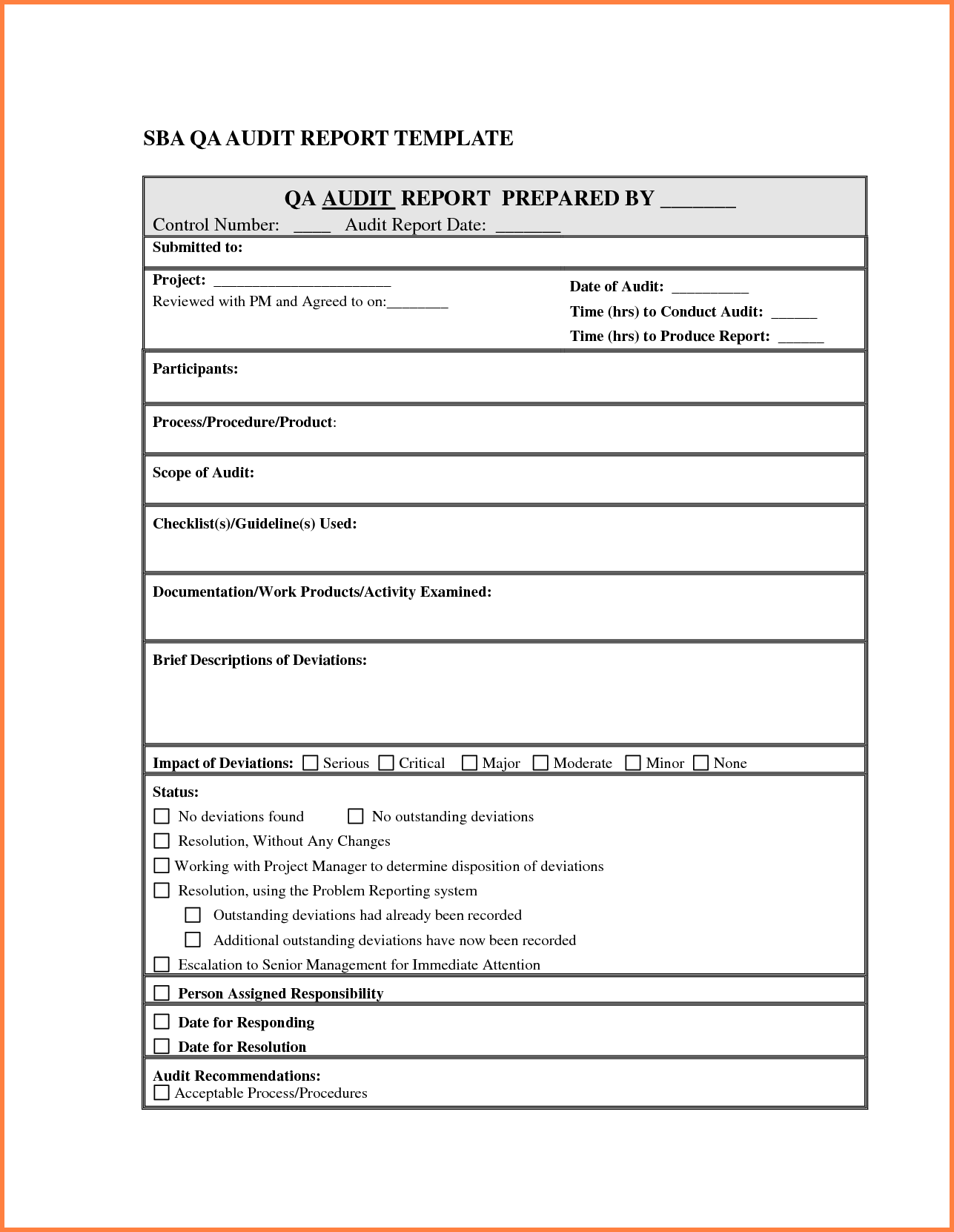 Sale Report Sample and 5 Audit Report Template Sales Report Template