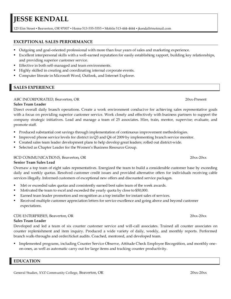 Sales Lead Sheet Template and Team Lead Sample Resume Resume for Your Job Application