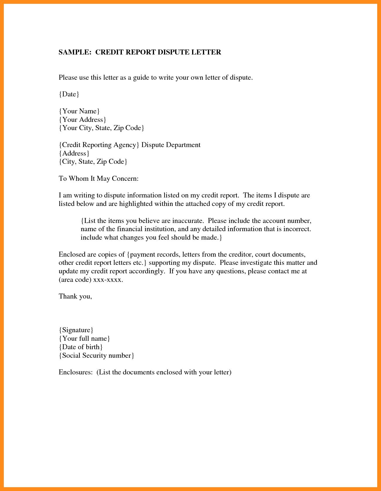 Sample Credit Report Pdf and 8 Report Letter Sample Mystock Clerk