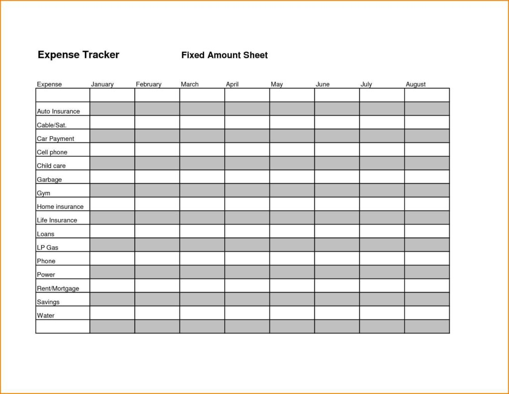 Sample Expense Report Excel and Expense Tracker Spreadsheet Teerve Sheet