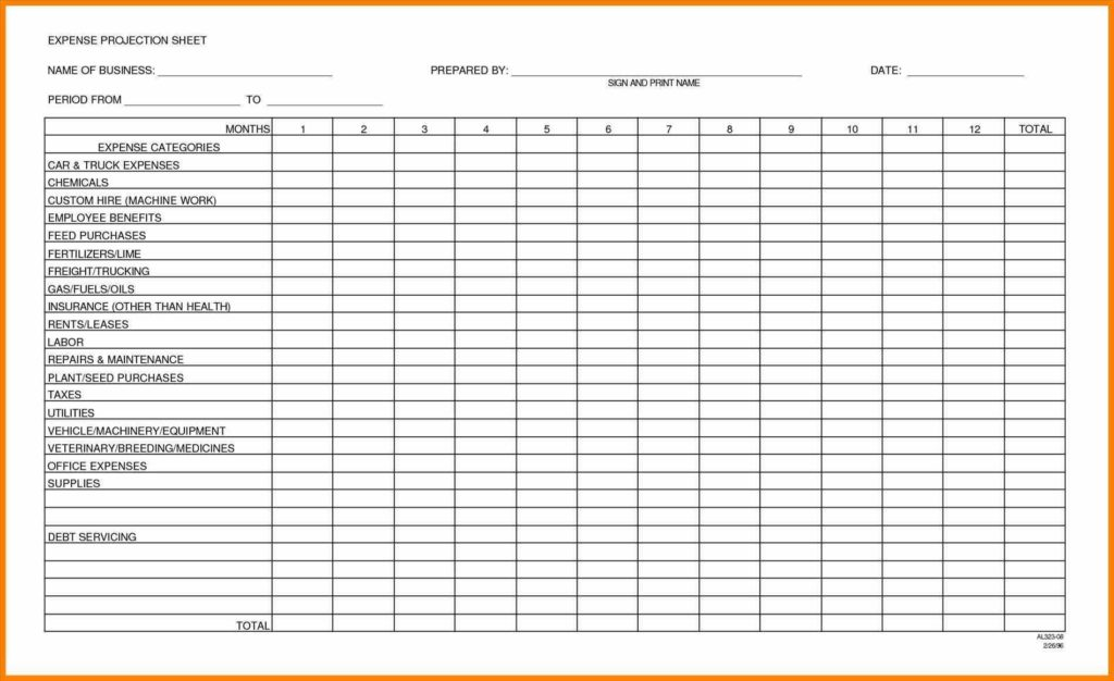 Sample Household Budget Sheet and Monthly Bud forms Doc Expenses Free Excel Report Doc Expense