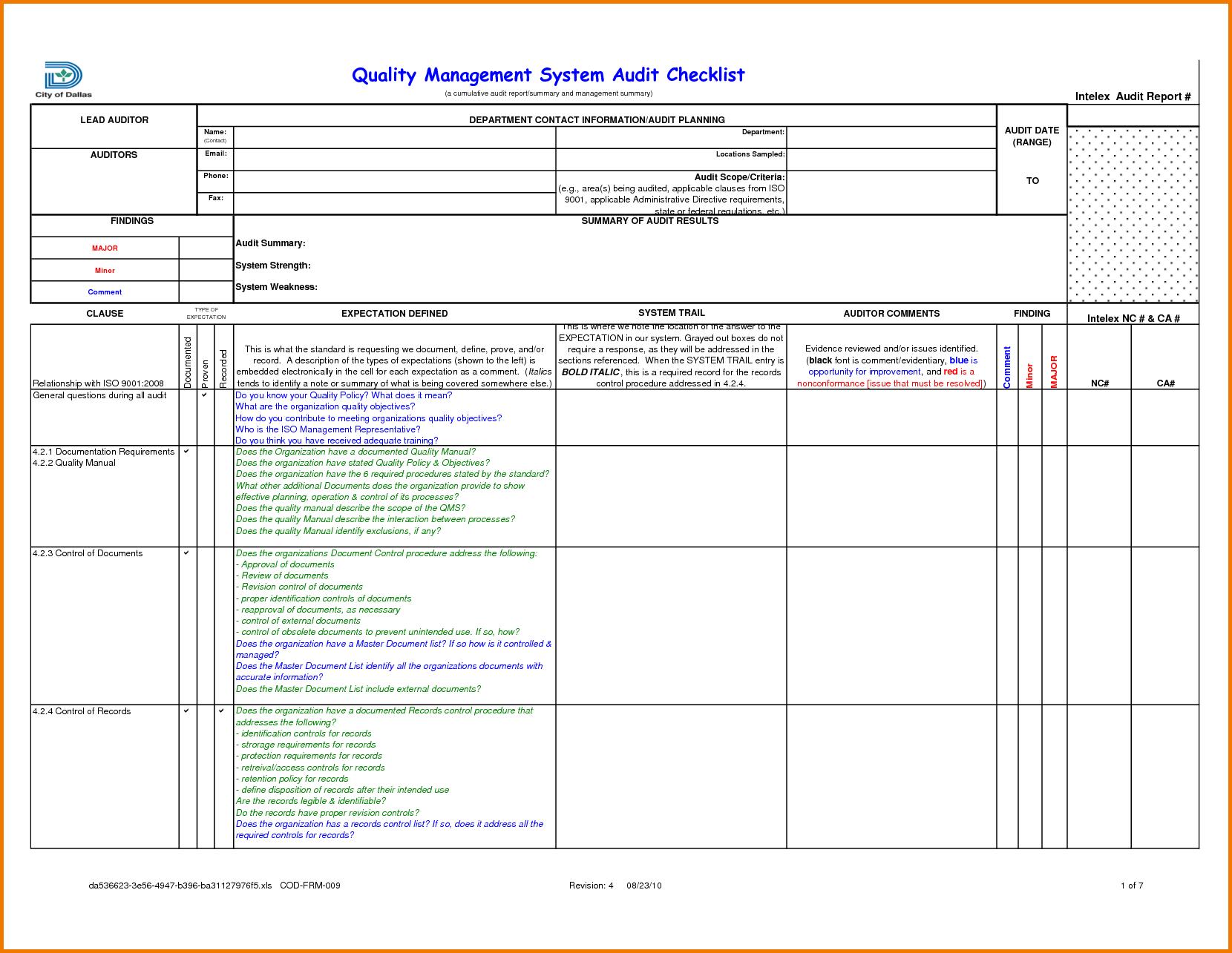 Sample Internal Audit Report Kpmg and Audit Findings Template Masir