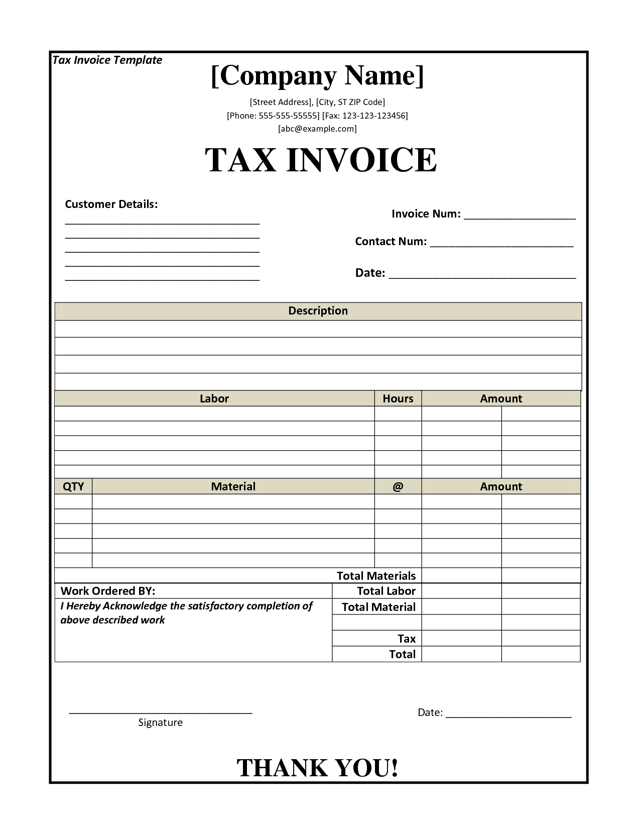 Sample Invoices for Small Business and Tax Invoice Template Nz Invoice Example