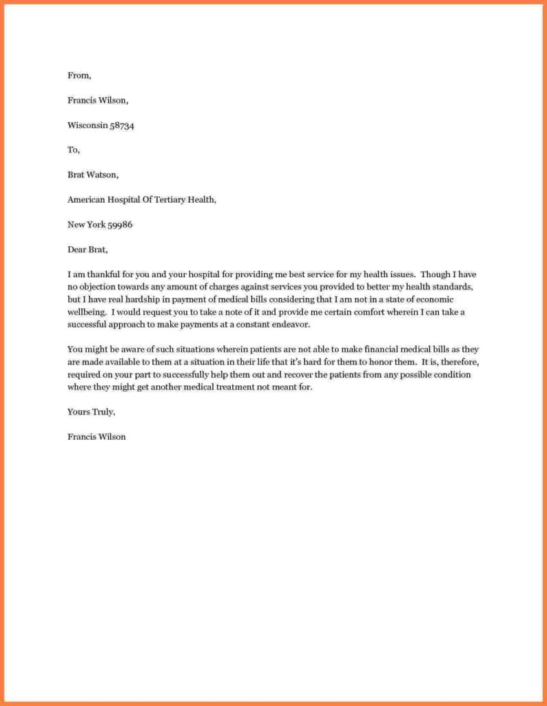 Sample Letter asking for Donations for Funeral Expenses and 8 Letter Requesting Financial assistance for Medical Bills Appeal