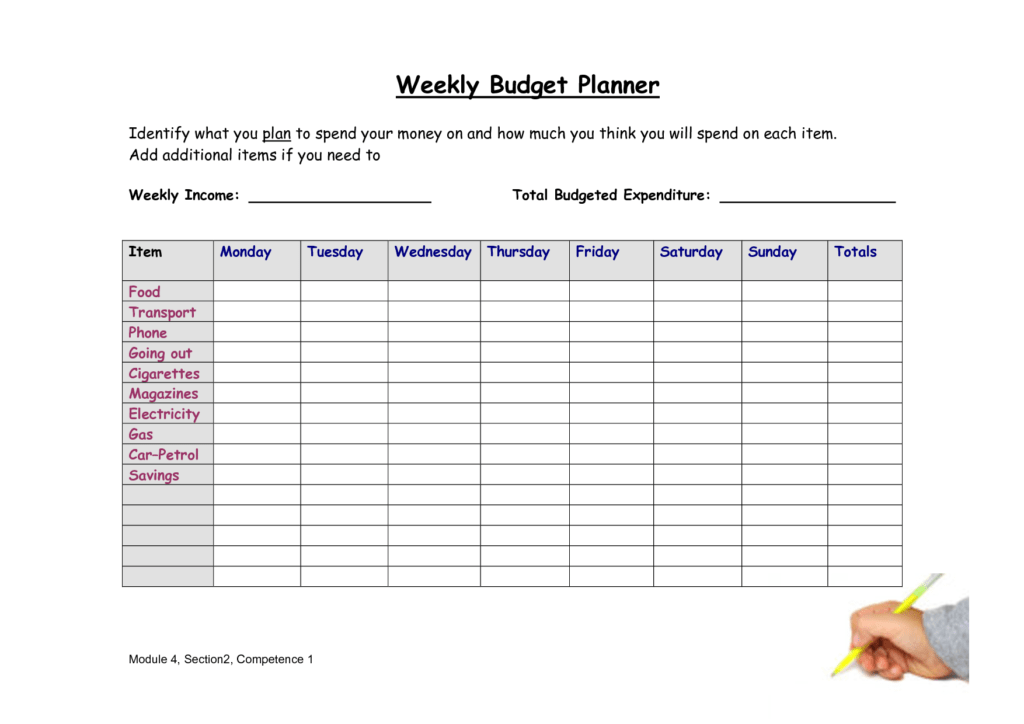 Sample Of A Budget Sheet and 7 Best Images Of Real Simple Bud Planner Weekly Bud