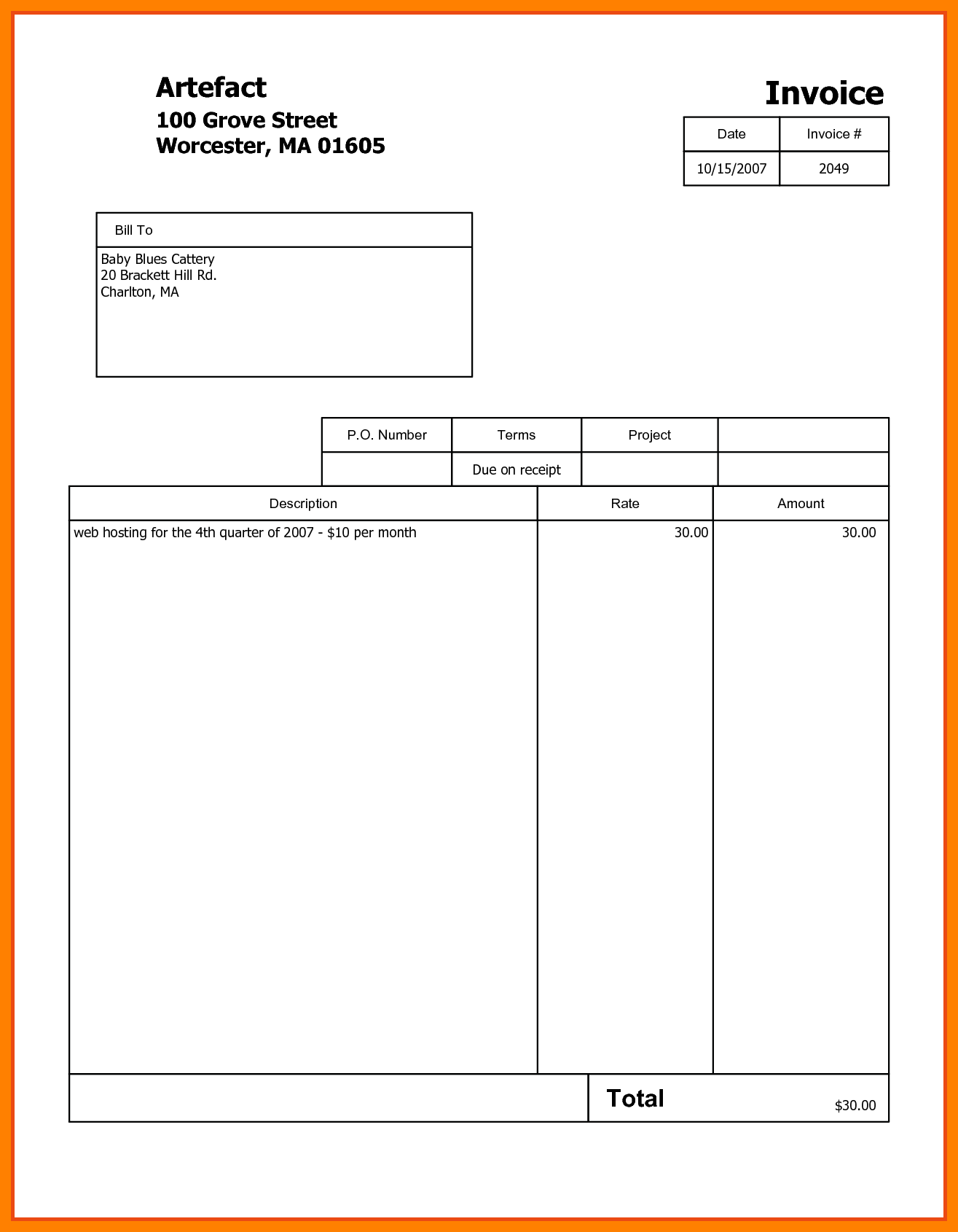 Sample Of A Invoice and 6 Sample Invoice Pdf Protect Letters