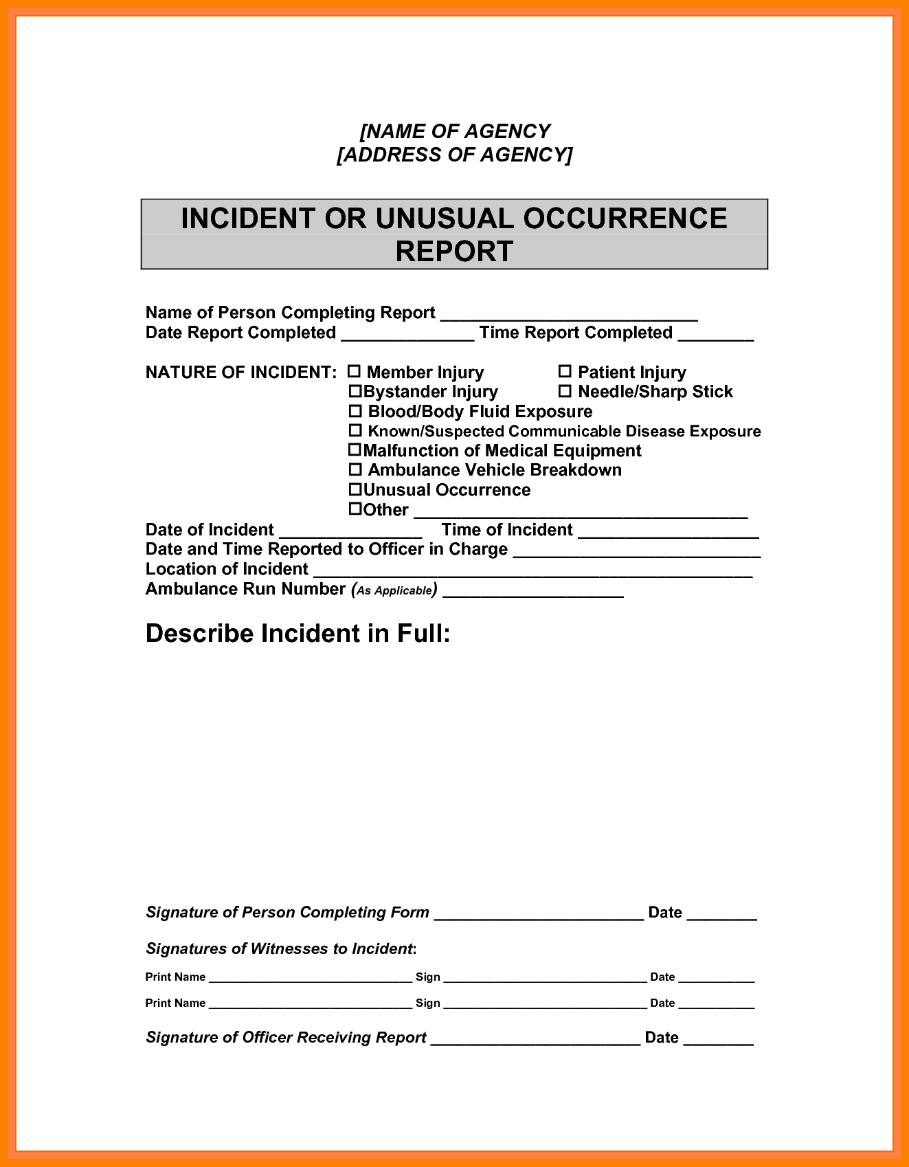 Sample Of A Report Writing and 8 Sample Incident Report Writing Cover Title Page