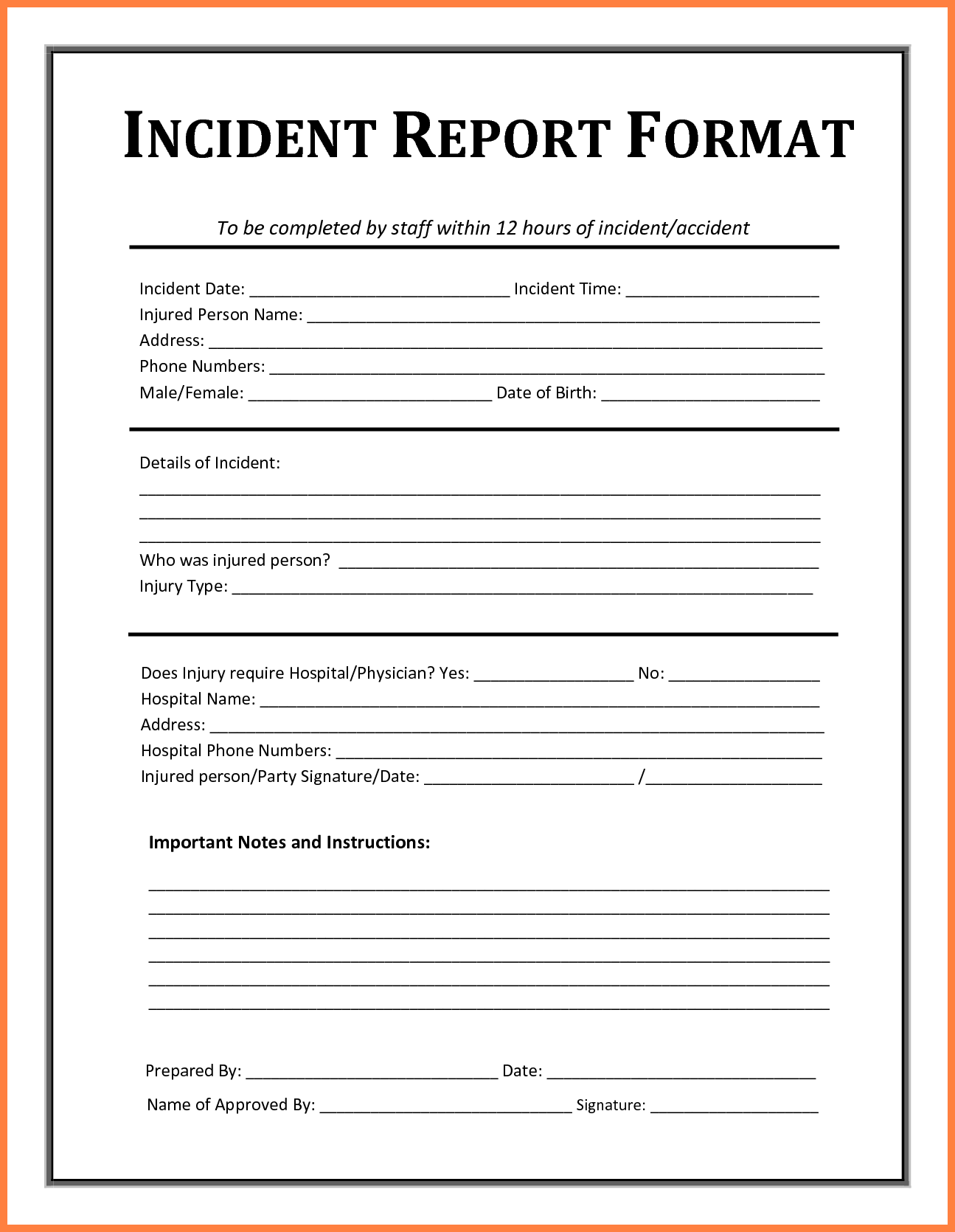 Sample Of Accident Report Writing and 5 Example Of Incident Report Bussines Proposal 2017